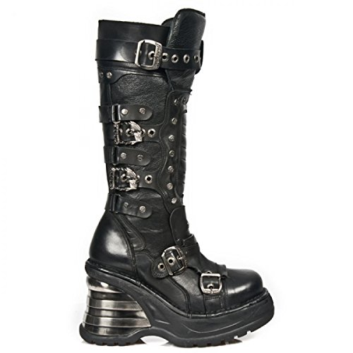 Nuovi Stivali Di Roccia M.8353-s2 Hardrock Punk Gotica Damen Stiefel Schwarz