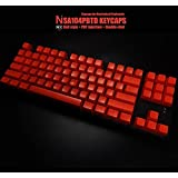 Doomhammer SA 104 PBT Double Shot Backlit Keycaps for Cherry MX Switches - Ball Style (Red)
