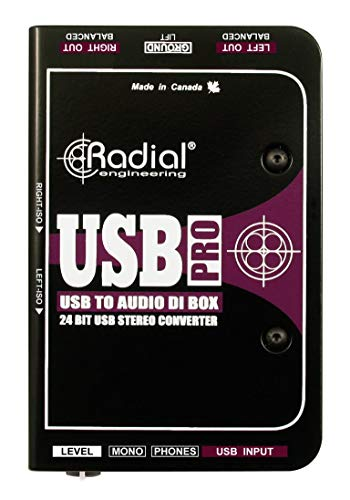 Radial Engineering USB-Pro Stereo USB Laptop DI from Radial Engineering
