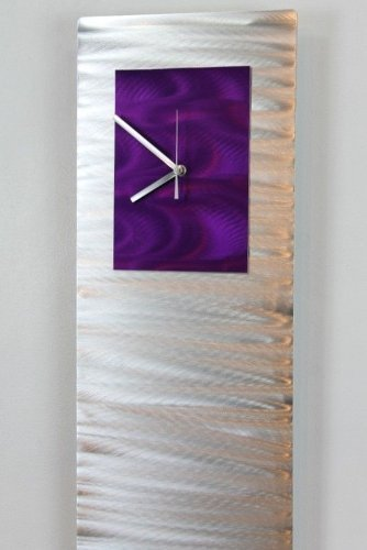 Mesmerizing Etched Silver & Purple Jewel Tone Metallic
