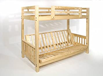 Amazon Com Futon Bunk Bed Frame Only Eco Friendly Solid Wood