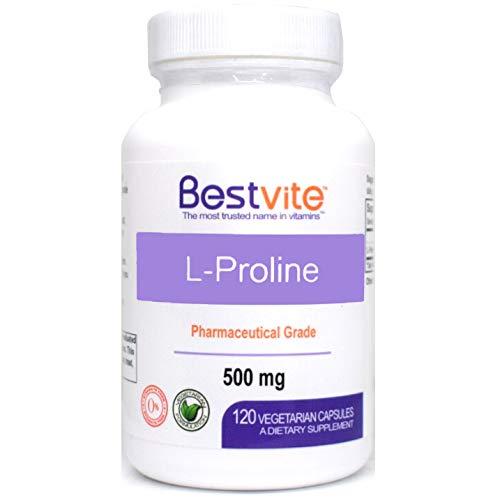 Cheap L-Proline 500mg (120 Vegetarian Capsules) – No Stearates – No Fillers