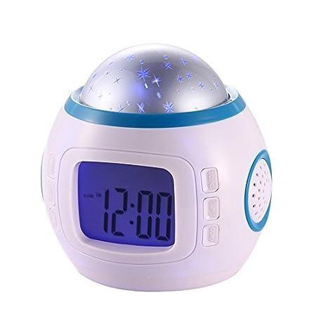 keke XILI Star Sky Digital de proyección de despertador Función ...