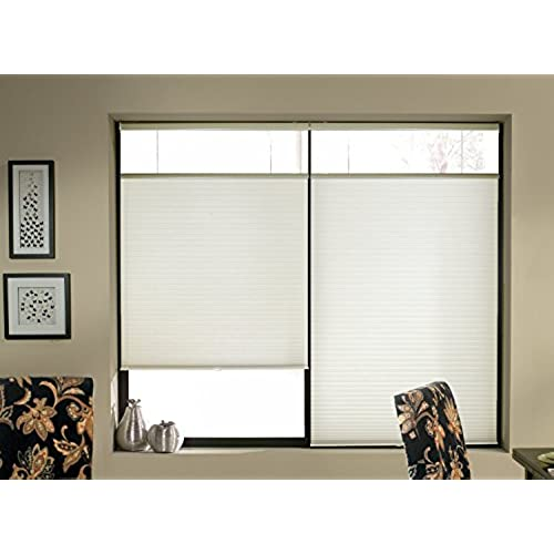 topdown bottomup cordless honeycomb cellular shade white 23wx64l