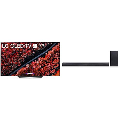 "LG OLED77C9PUB C9 Series 77"" 4K Ultra HD Smart OLED TV (2019) Bundle with LG SJ4Y 2.1 Channel 300 Watt High Resolution Audio Sound Bar"