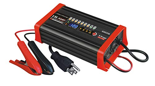 (NEW 2019 MODEL) BC8S1215A 15 Amp 12 Volt 8 Stage Heavy Duty Smart Battery Charger & Maintainer for AGM, GEL, SLA, Marine & Automotive Batteries. Charge, maintain and restore 12 Volt batteries