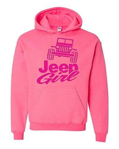 - Artix Jeep Girl Unisex Hoodie Sweatshirt Medium Safety Pink