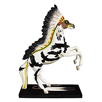 Enesco Trail of Painted Ponies War Eagle Stone Resin Horse Figurine, 10.8
