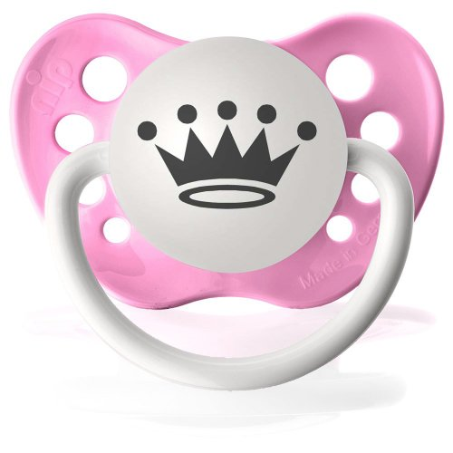 Personalized Pacifiers - Princess Crown - Pink