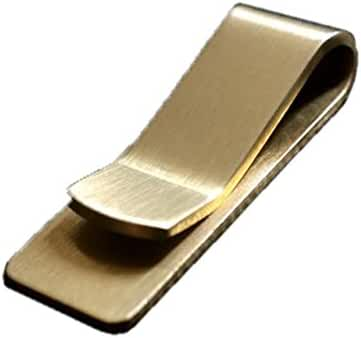 Anniverl Money Clip Simple Design Classy Gold