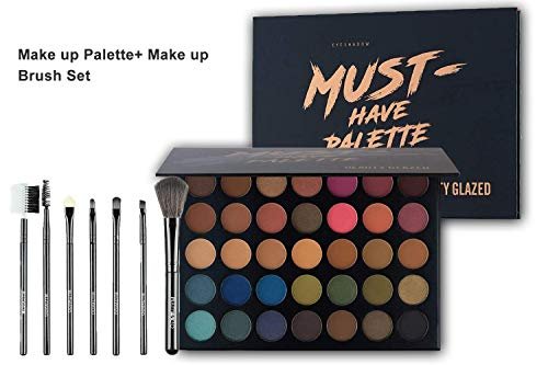 Beauty Glazed 35 Color Eyeshadow Cosmetic Matte With Make Up Brushes kit Bag Eyeshadow Palette Matte And Shimmer Professional Eyeshadow Cream Makeup Palette Powder