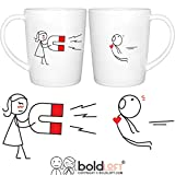 BOLDLOFT You Are Irresistible His and Hers Coffee Mugs-Couple Mugs Set, Anniversary Gifts for Boyfriend, Matching Gifts for Couples, His and Hers Gifts, Fiance Gifts for Him, Husband Gifts from Wife