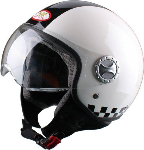 556 opinioni per BHR 49824 Casco Demi-Jet, Taglia M, Design Racing, Bianco