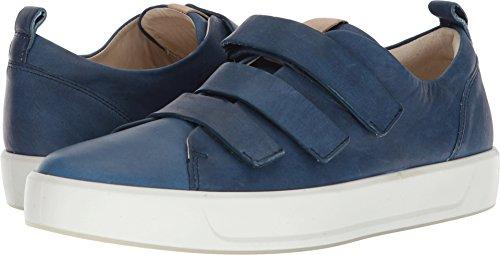 ECCO Men's Soft 8 3-Strap Sneaker, Indigo/Powder, 42 M EU (8-8.5 US)