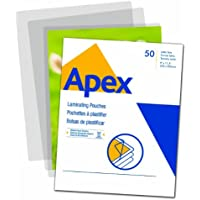Apex Medium Laminating Pouches, Letter Size for 5 Mil Setting, 50 Pack (5243101)
