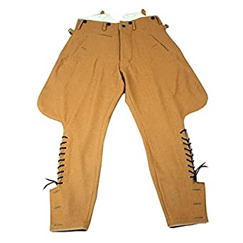 1940s Trousers, Mens Wide Leg Pants WW2 Nazi Party Breeches $114.84 AT vintagedancer.com
