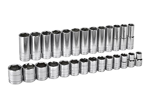 GearWrench  80729 1/2-Inch Drive SAE Master Socket Accessory Set, 27-Piece (Gearwrench Master Set)