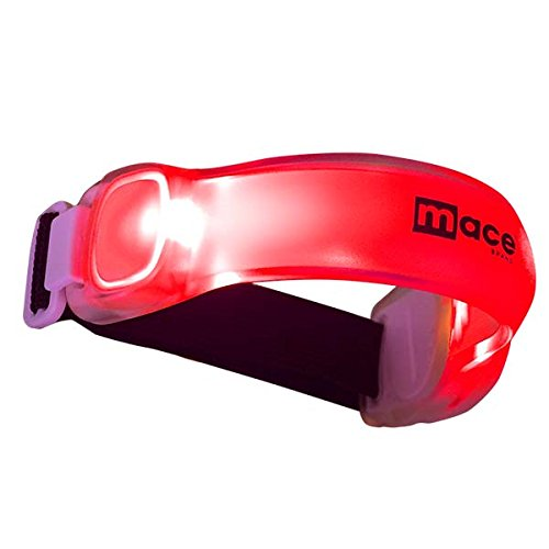 Mace Brand LED Adjustable Safety Band LED Safety Gear Adjustable Safety Band, Red