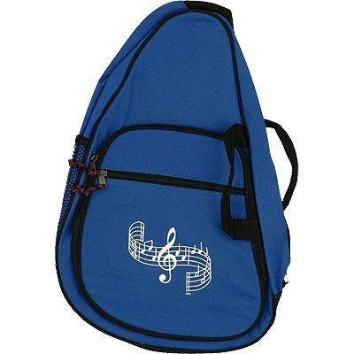Blue Musical Clef Design School Backpack and Pencil Case Set