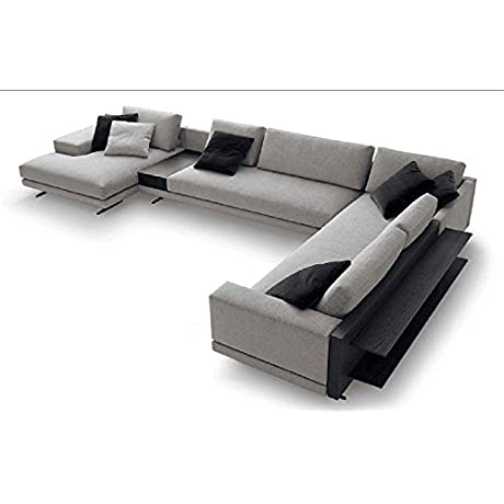 BASELIVE Modular Contemporay Fabric Sofa Set With Faux Linen