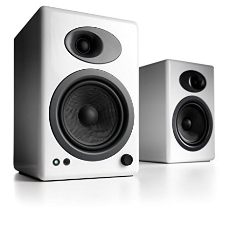 Audioengine A5+ Premium Powered Bookshelf Speakers, A5+W-115V, White