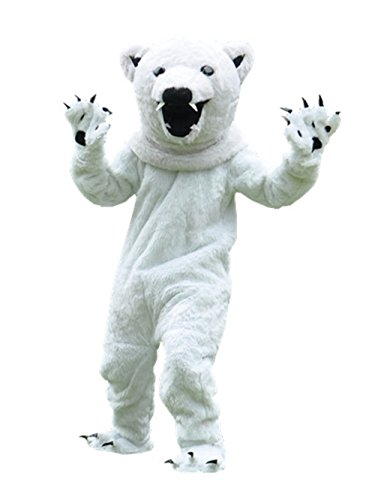 Polar Bear Mascot (MascotShows Polar Bear Adult Mascot Costume Adult Size Halloween Fancy Dress Suit)