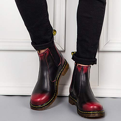 Boots Stivali Classico Nero Martin Uomo Matrimonio Blackred Stivali Chelsea Classico Pelle Stivaletti Brogue CPwdPq
