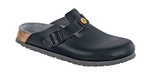Birkenstock Boston ESD Zoccoli Pelle Nero - 061360 - calzata normale (EU 39)