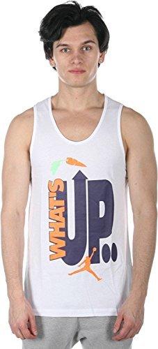Nike AJ VII WB HARE TANK , X-Large, White by Jordan