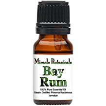 Miracle Botanicals Bay Rum Essential Oil - 100% Pure Pimenta Racemosa - 10ml or 30ml Sizes - Therapeutic Grade - 10ml