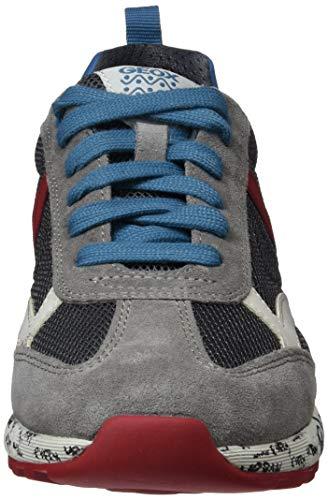 Geox Para J A Red Gris grey C1102 Niños Zapatillas dk Boy Alben qwAq1xR4