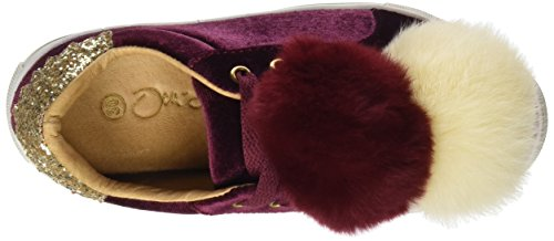 Oca Loca 7059-37, Zapatillas Para Niñas Rojo (Burdeos)