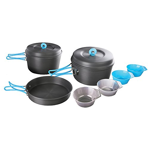 Stansport Hard Anodized Aluminum 4 Person Cook Set ()