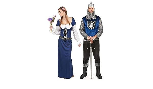 Generique - Disfraz de Pareja Medieval Azul Adulto Única: Amazon ...