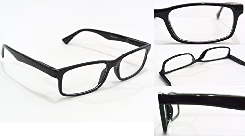 NEARSIGHTED GLASSES for SEEING DISTANCE black optical frame MYOPIA negative MINUS POWER -3.50