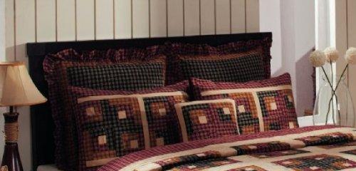 Pillows Bedding Sham 100% Pure Cotton Cambridge Log Cabin Design IHF Home Decor