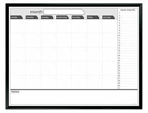 Board Dudes 36-Inch x 46-Inch Black Aluminum Framed Magnetic Dry Erase Calendar (CYF59)