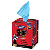 Kimberly-Clark Professional SCOTT 10'' X 13'' Blue Double Reinforced Crepe Shop Towel (200 Per Box, 8 Box Per Case), 1 Box