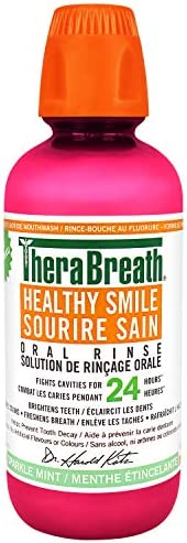 Therabreath Healthy Smile oral Rinse - sparkle Mint | Fluoride & Xylitol - Fights Cavities for 24 Hours |
