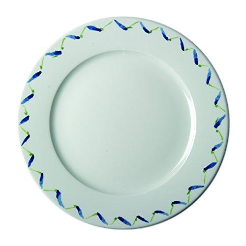 (Pillivuyt 212228FDP2 Fleur de Provence Plate with Lavender Wreath, Large, White With Lavender)