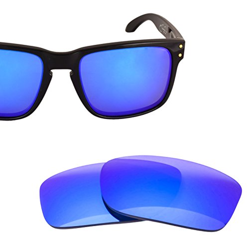 LenzFlip Replacement Lenses for Oakley HOLBROOK - Gray Polarized with Blue Mirror - Are Lenses Iridium Polarized