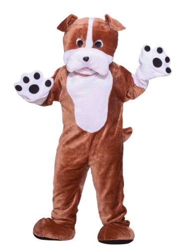 Forum Deluxe Plush Bulldog Mascot Costume, Brown, One Size - Mascot Costumes