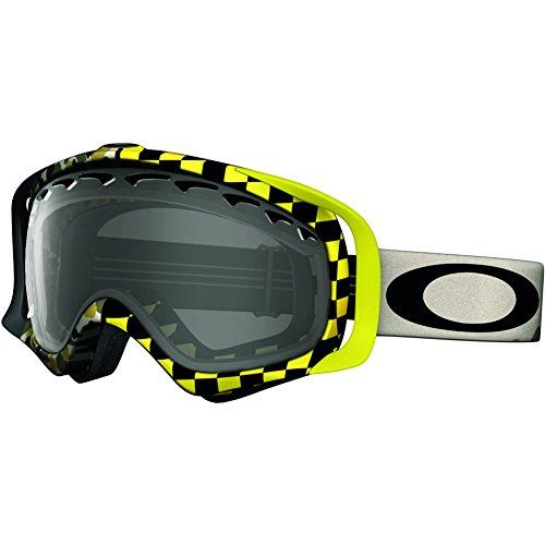 25dcd18db1 Oakley Crowbar Adult Flight Series Snow Snowmobile Goggles Eyewear - Camo  Check Dark Grey One Size Fits All