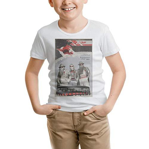 (J.SKEY Toddler Girls Lot-Detail-1986-Afterburner-Tour-ZZ-Top-Concert-Poster- White Short Sleeved Cotton T-Shirt)