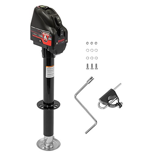 Bulldog A-frame Jack - Bulldog 500199 Powered Drive A-Frame Tongue Jack with Spring Loaded Pull Pin - 4000 lb. Capacity (Black Cover)