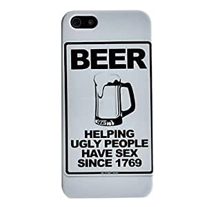 Overflowing Beer Pattern Hard Case for iPhone 5/5S 00507232