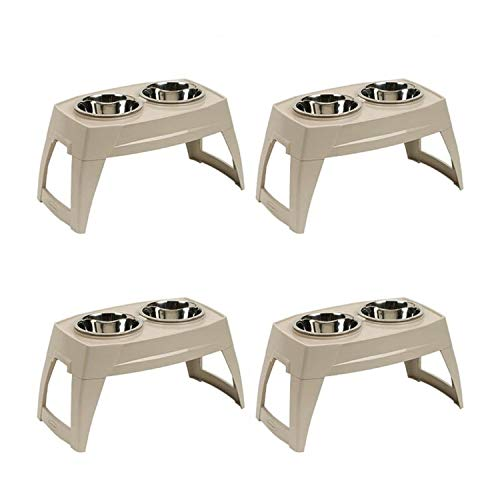 - Suncast Compact Elevated Pet Feeder Feeding Tray Removable 8