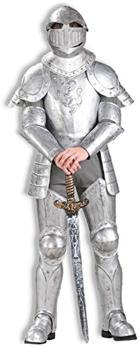 Knight In Costumes Armor Shining Adult (Adult Knight in Shining Armor Costume - One Size -)