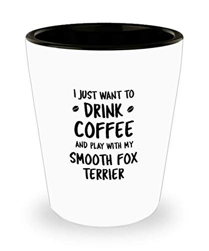 Funny Smooth Fox Terrier Shot Glass - Dog Lover - Cute Pet Gifts for Mom and Dad