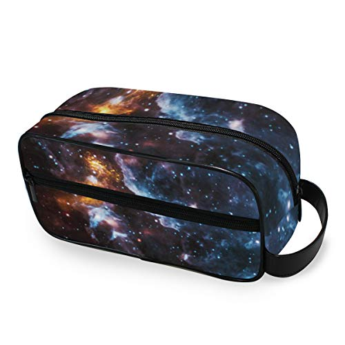 Portable Travel Toiletry Bag,Illusions In The Cosmic Clouds Cosmetic Organizer for Men Women Multifunctional Bathroom Shower Shaving Bags